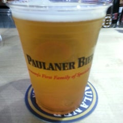 Photo taken at Paulaner Bier Garten by Mat G. on 5/22/2014