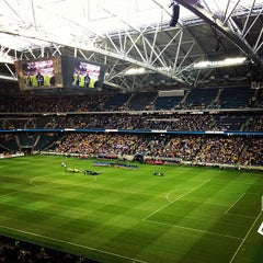 Photo taken at Friends Arena by Carl F. on 6/11/2013