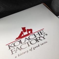Photo taken at Kolache Factory by Michele R. on 4/19/2013