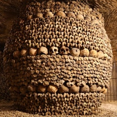 Photo taken at Catacombes de Paris by Jud V. on 7/18/2013