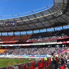 Photo taken at Стадион «Локомотив» by Alina V. on 4/13/2013