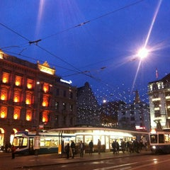 Photo taken at Paradeplatz by Sonja B. on 11/24/2012