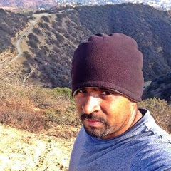 Photo taken at Fat Girl Hill at Runyon Canyon by Rajesh K. on 12/21/2013