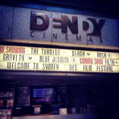 Photo taken at Dendy Cinemas by Francesco P. on 10/17/2013