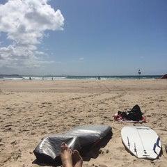 Photo taken at Coolangatta Beach by Cláudia P. on 9/21/2014