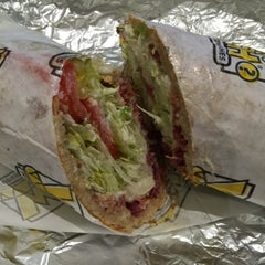 Photo taken at Which Wich? Superior Sandwiches by Pandora K. on 4/13/2015