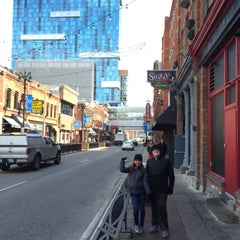 Photo taken at Greektown Historic District by Chaz P. on 3/22/2016