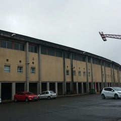 Photo taken at Estadio Multiusos de San Lázaro by Santi L. on 4/29/2014