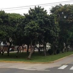 Photo taken at Parque Gonzales Prada by Oz S. on 12/22/2012
