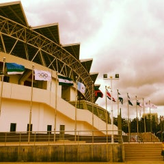 Photo taken at Estadio Nacional by Sakura A. on 3/16/2013