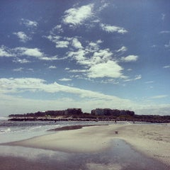 Photo taken at Burkes Beach by Emily S. on 4/18/2013