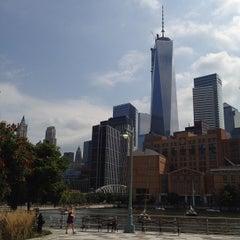 Photo taken at Pier 25 — Hudson River Park by Matthew on 8/29/2013