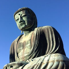 Photo taken at 鎌倉大仏 (Great Buddha of Kamakura) by mami f. on 11/27/2012