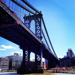 Photo taken at Manhattan Bridge by A J. on 5/1/2013