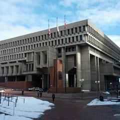 Photo taken at Boston City Hall by Maxim G. on 2/25/2013