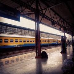 Photo taken at Stasiun Pasar Senen by Bagaskoro Meyca D. on 7/3/2013