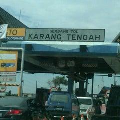 Photo taken at Gerbang Tol Karang Tengah by Masrul F. on 11/20/2012