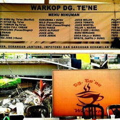Photo taken at WARKOP DG TE'NE MAROS by lukie on 11/27/2012