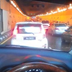 Photo taken at Jalan Tun Razak Tunnel by Azmi K. on 6/9/2014