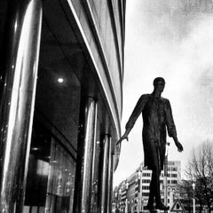 Photo taken at Gare de Bruxelles-Schuman / Station Brussel-Schuman by Massimiliano M. on 1/30/2013