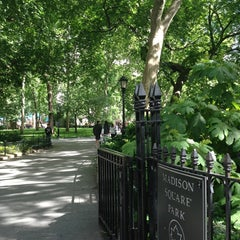 Photo taken at Madison Square Park by Riccardo R. on 5/26/2013