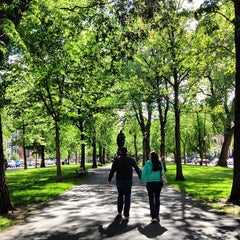 Photo taken at Commonwealth Avenue Mall by Jordan R. on 5/26/2013