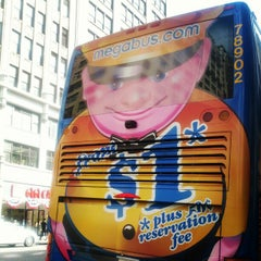 Photo taken at Mega Bus - 7th Ave & 27th St by Kyle D. on 5/13/2012