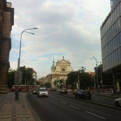 Photo taken at Karlovo náměstí (tram, bus) by Simona B. on 6/21/2012