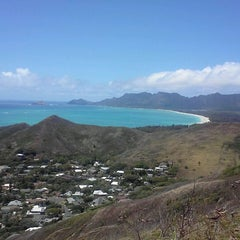 Photo taken at Lanikai Pillboxes Hike by Emily N. on 6/10/2012