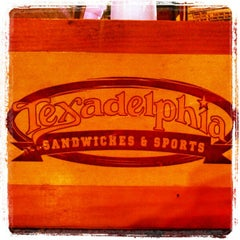 Photo taken at Texadelphia Sandwiches & Sports by John W. on 4/15/2012