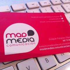 Photo taken at Mad Media Comunicación by Joaquín P. on 1/21/2013