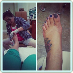 Photo taken at First Class Nails & Spa by Monesia H. on 10/30/2012