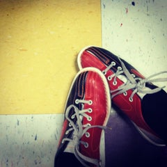 Photo taken at AMF All Star Lanes-Greensboro by Victoria on 1/26/2013