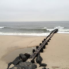 Photo taken at Karge Street Beach by Alex B. on 1/12/2013