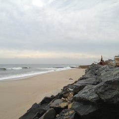 Photo taken at Karge Street Beach by Alex B. on 1/14/2013