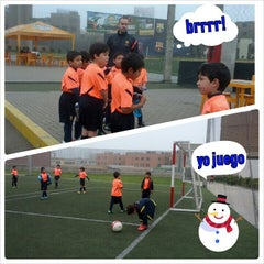 Photo taken at FCB escola by Juan T. on 9/14/2013