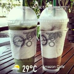 Photo taken at Café Amazon (คาเฟ่ อเมซอน) by Sedan H. on 5/22/2013