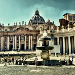 Photo taken at Piazza San Pietro by Alex T. on 9/14/2013