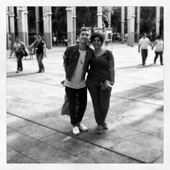 Photo taken at Plaza De La Luz by Esteban C. on 5/28/2013