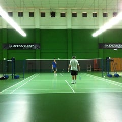 Photo taken at BJGCR Badminton Court by Kim Seng C. on 12/11/2012