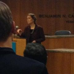 Photo taken at Benjamin N. Cardozo School of Law by Peter D. on 1/16/2013