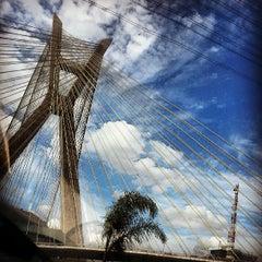 Photo taken at Ponte Octávio Frias de Oliveira (Ponte Estaiada) by Felipe d. on 5/14/2013