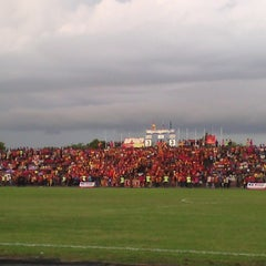 Photo taken at Stadium Sungai Besar by Puterialia R. on 11/29/2014