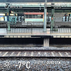 Photo taken at 구로역 (Guro Stn.) by Jouyeop L. on 2/19/2013