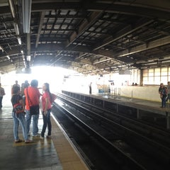 Photo taken at Yellow Line - Araneta Center-Cubao Station by Joseph S. on 12/9/2012