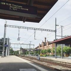 Photo taken at Bahnhof Zürich Tiefenbrunnen by Jonathan K. on 5/9/2015