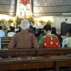 Photo taken at SMA Santo Kristoforus 1 by elisa k. on 5/19/2013