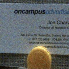 Photo taken at OnCampus Advertising by Joe C. on 10/11/2012