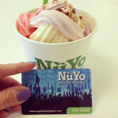 Photo taken at NuYo Frozen Yogurt by Mira on 3/23/2013