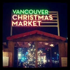 Photo taken at Vancouver Christmas Market by Diana C. on 12/18/2012